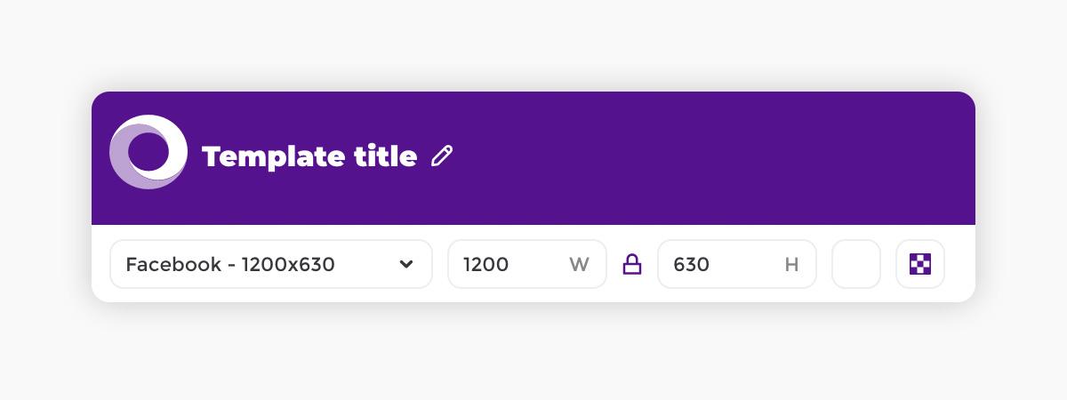 Placid template editor - canvas toolbar