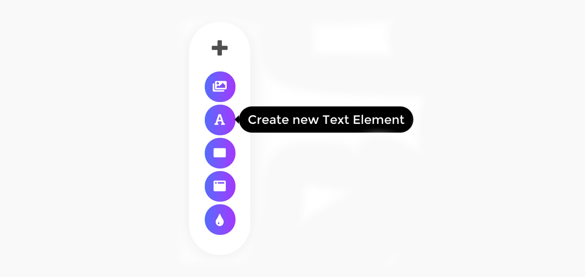 Placid editor create text element