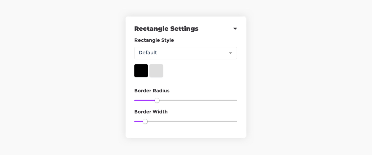 Placid rectangle settings