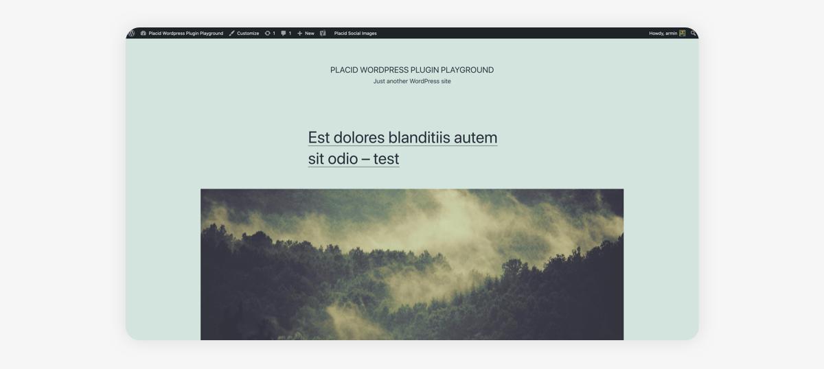 WordPress example blog