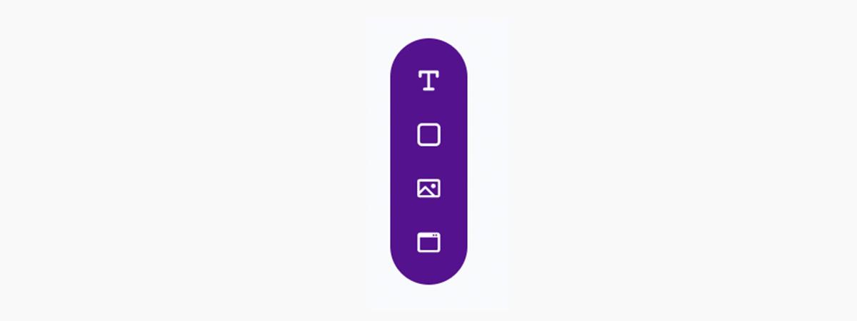 Placid template editor - create toolbar