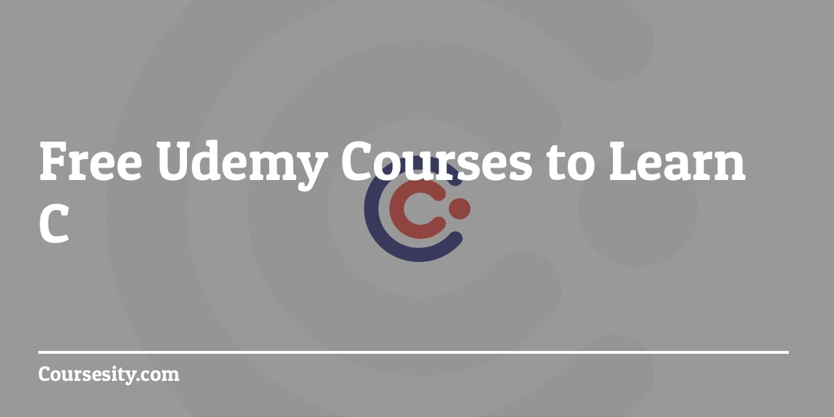 Free Udemy courses on C - 2019 | Quick Code