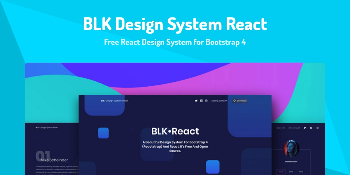 BLK Design System React - Made with React js