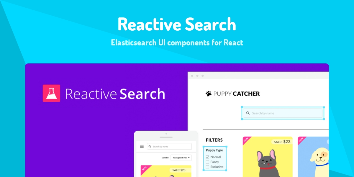 Reactive Search - Made with React js