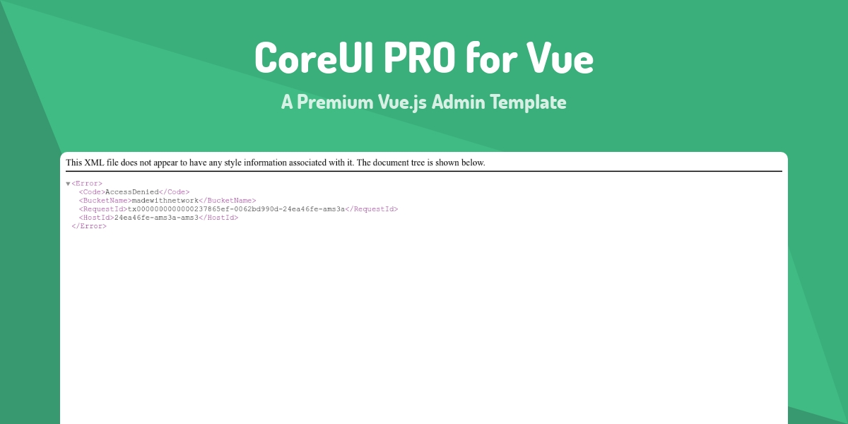 CoreUI PRO for Vue - Made with Vue js