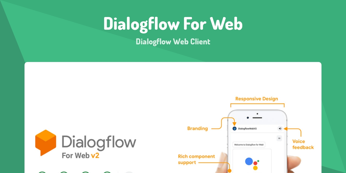 Dialogflow For Web - Made with Vue js