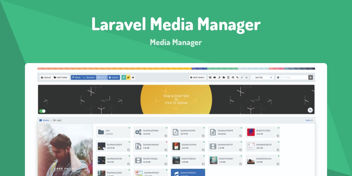 Laravel Media Manager - Made with Vue js