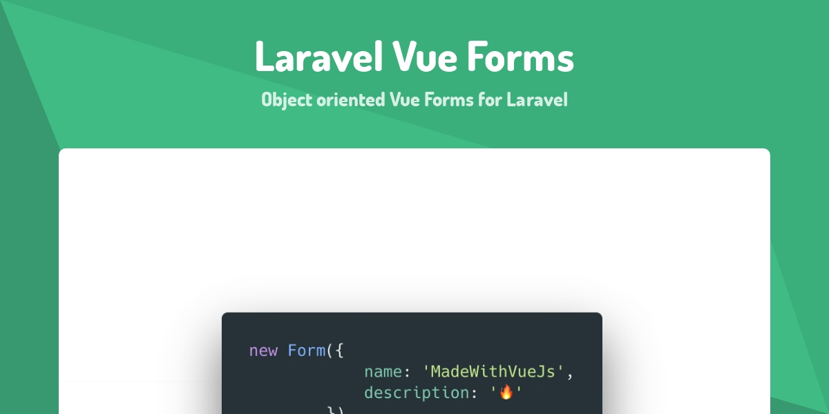 Laravel Vue Forms - Made with Vue js