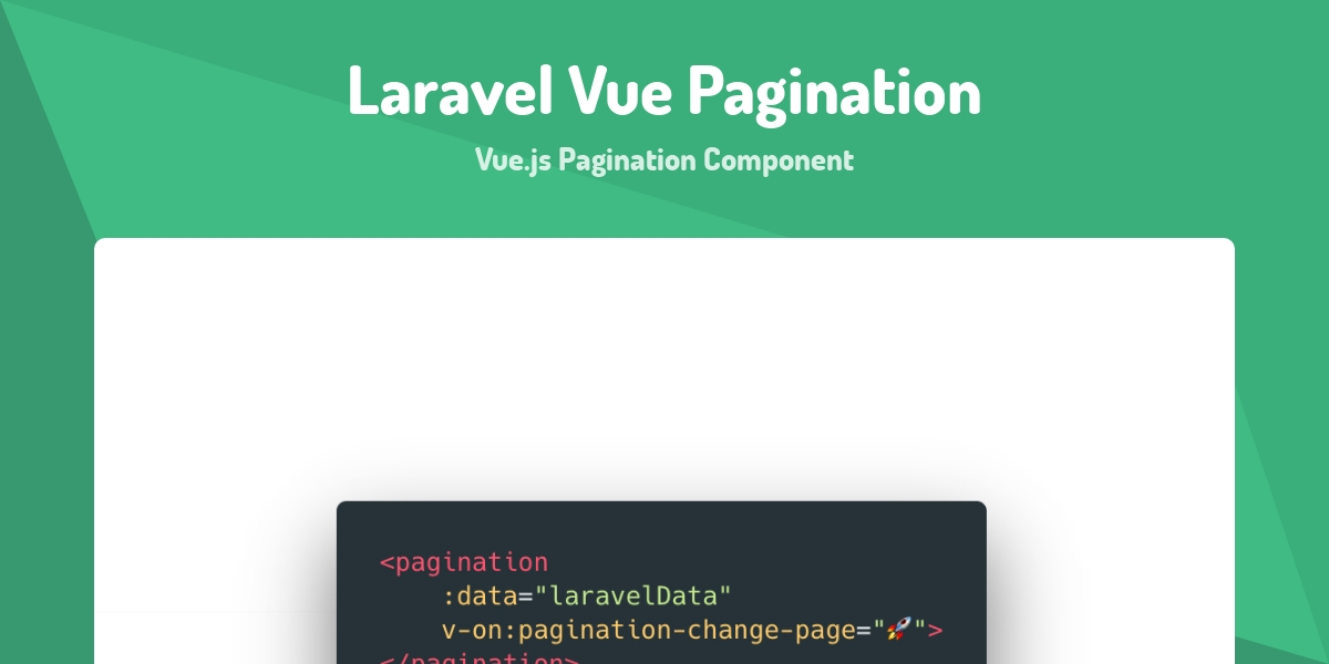 Laravel Vue Pagination - Made with Vue js