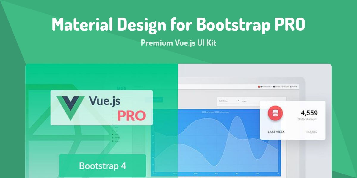 Material Design for Bootstrap PRO - Made with Vue js