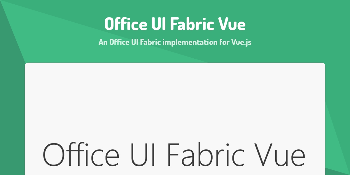 Office UI Fabric Vue - Made with Vue js