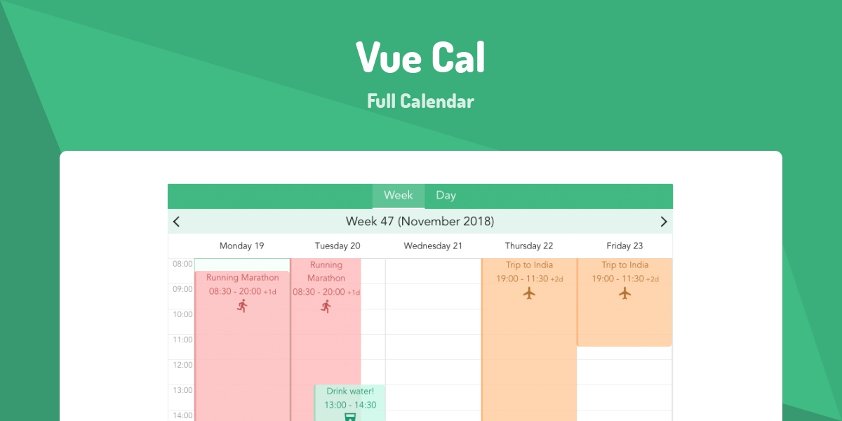 Vue Cal - Made with Vue js