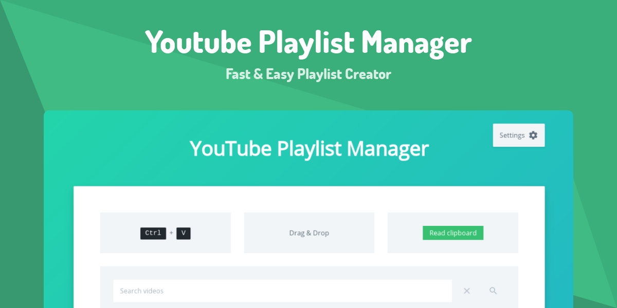 Youtube Playlist Manager - Made with Vue js