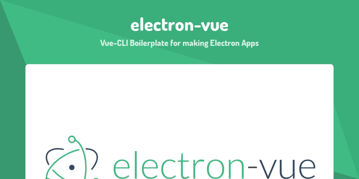 electron-vue - Made with Vue js