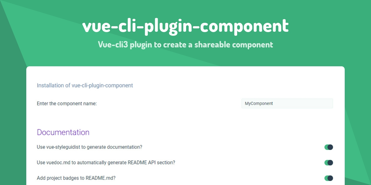 vue-cli-plugin-component - Made with Vue js