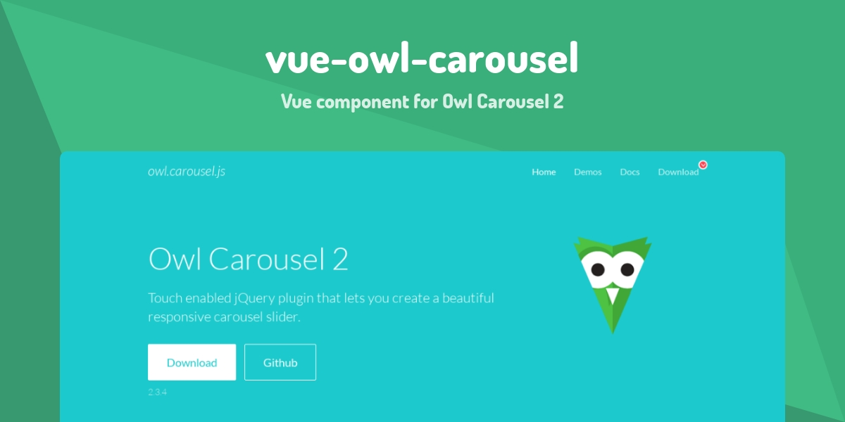 vue-owl-carousel - Made with Vue js