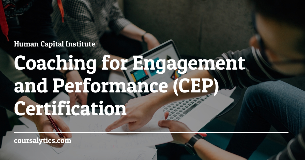 Coaching For Engagement Performance Certification Course Hci
