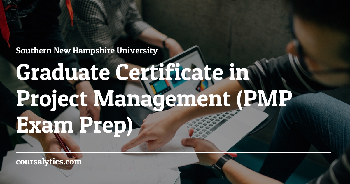 Graduate Certificate In Project Management Course Southern New